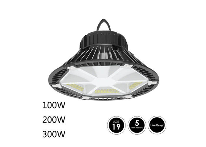 160lm 100W Industrial High Bay LED Lighting 310×310 Aluminum Material