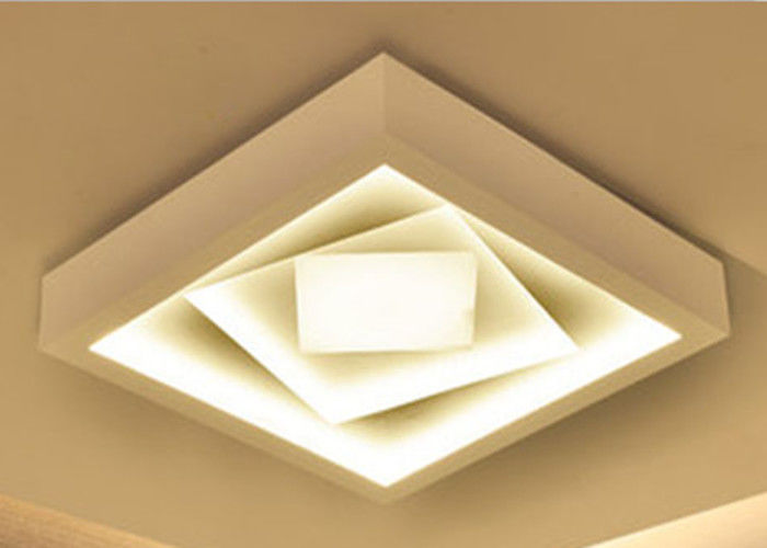 Super Bright LED Flat Panel Ceiling Lights Ultra Thin 5000K For Living Room